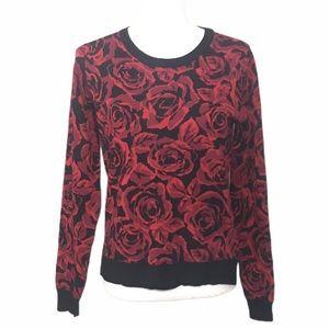 Philosophy Roses Crewneck Sweater